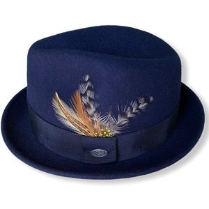 Bailey of Hollywood Breed Collection Navy Fedora